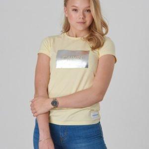 Calvin Klein Calvin Box Slim Fit Tee T-Paita Keltainen