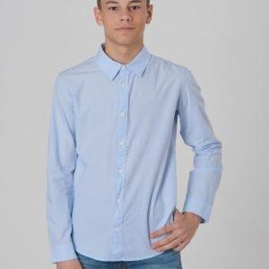 Calvin Klein Chambray Regular Shirt Kauluspaita Sininen