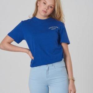 Calvin Klein Chest Logo Oco Tee T-Paita Sininen