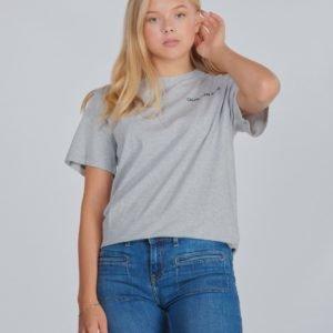 Calvin Klein Chest Logo Regular Top T-Paita Harmaa