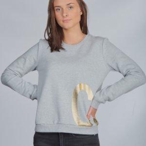 Calvin Klein Ck Gold Sweatshirt Neule Harmaa