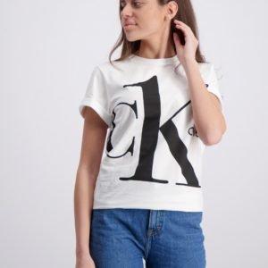 Calvin Klein Ck One Ss T Shirt T-Paita Valkoinen