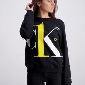 Calvin Klein Ck One Sweatshirt Neule Musta