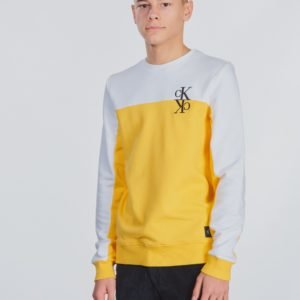 Calvin Klein Colour Block Monogram Sweatshirt Neule Keltainen