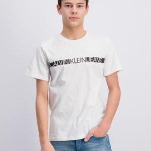 Calvin Klein Hero Logo T Shirt T-Paita Valkoinen