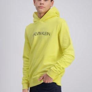 Calvin Klein Institutional Logo Hoodie Huppari Keltainen