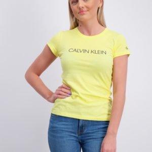 Calvin Klein Institutional Slim T Shirt T-Paita Keltainen