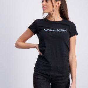 Calvin Klein Institutional Slim T Shirt T-Paita Musta