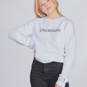 Calvin Klein Institutional Sweatshirt Neule Valkoinen