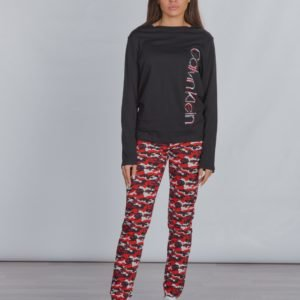 Calvin Klein Knit Pj Set Pyjama Musta