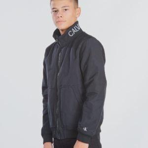 Calvin Klein Logo Bomber Jacket Takki Musta