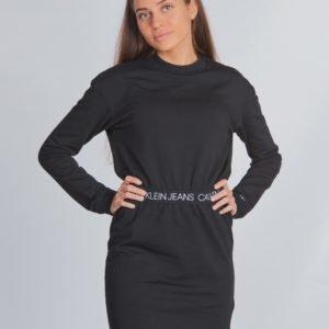 Calvin Klein Logo Waistband Dress Mekko Musta