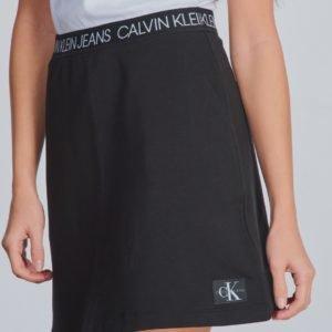 Calvin Klein Logo Waistband Skirt Hame Musta