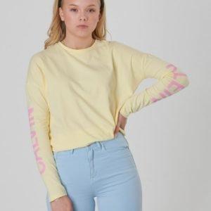 Calvin Klein Long Sleeve Logo Girl Tee T-Paita Keltainen