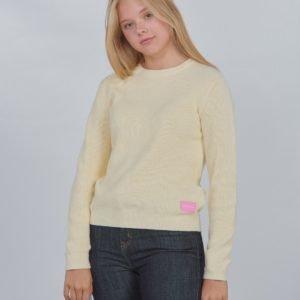 Calvin Klein Melange Organic Cotton Sweater Neule Keltainen