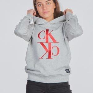 Calvin Klein Mirror Monogram Hoodie Huppari Harmaa