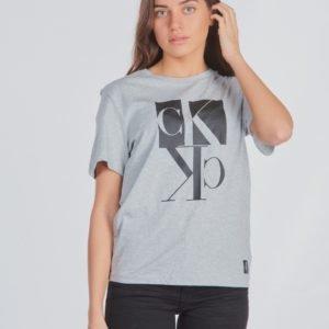 Calvin Klein Mirror Monogram T Shirt T-Paita Harmaa