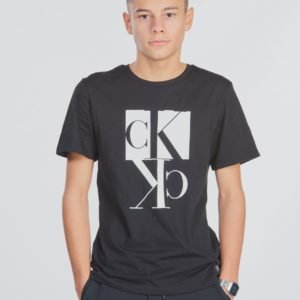 Calvin Klein Mirror Monogram T Shirt T-Paita Musta