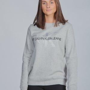Calvin Klein Monogram Crew Sweatshirt Neule Harmaa