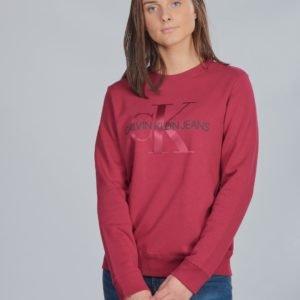 Calvin Klein Monogram Crew Sweatshirt Neule Punainen
