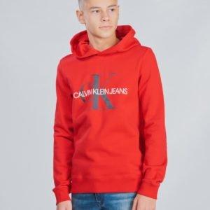 Calvin Klein Monogram Hoodie Huppari Punainen