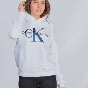 Calvin Klein Monogram Hoodie Huppari Valkoinen