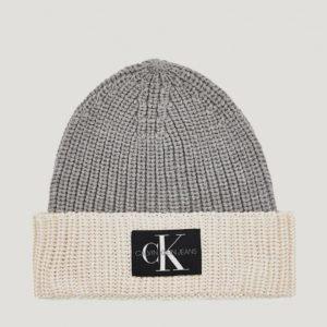 Calvin Klein Monogram Knitted Beanie Hattu Harmaa
