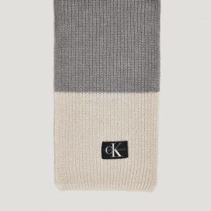 Calvin Klein Monogram Knitted Scarf Kaulaliina Harmaa