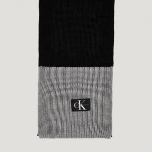 Calvin Klein Monogram Knitted Scarf Kaulaliina Musta