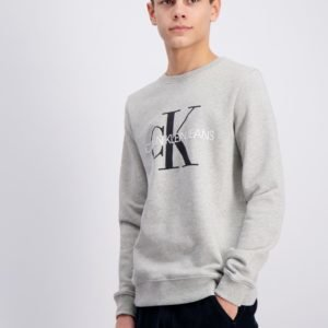 Calvin Klein Monogram Logo Sweatshirt Neule Harmaa