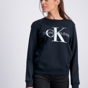 Calvin Klein Monogram Logo Sweatshirt Neule Musta