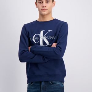 Calvin Klein Monogram Logo Sweatshirt Neule Sininen