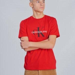 Calvin Klein Monogram Logo T Shirt T-Paita Punainen