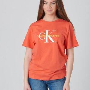 Calvin Klein Monogram Oco Regular Tee T-Paita Oranssi