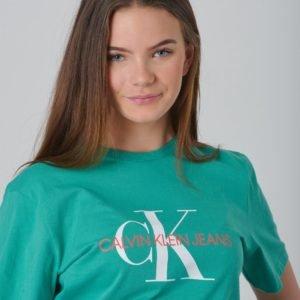 Calvin Klein Monogram Oco Tee T-Paita Vihreä