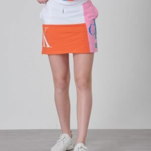 Calvin Klein Monogram Pathchwork Light Skirt Hame Valkoinen