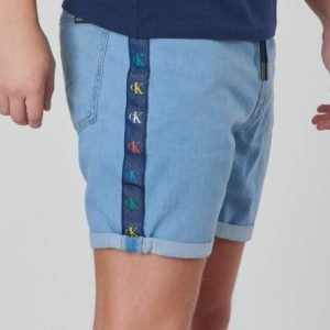 Calvin Klein Monogram Short Boy Mid Blue Shortsit Sininen