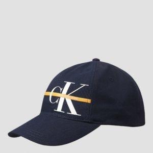 Calvin Klein Monogram Stripe Cap Lippis Sininen