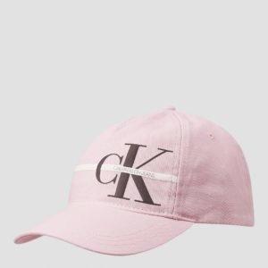 Calvin Klein Monogram Stripe Cap Lippis Vaaleanpunainen