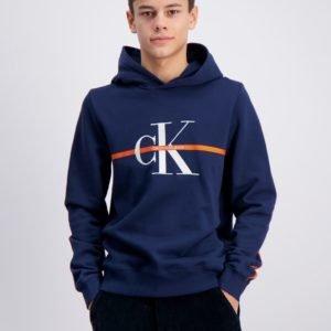 Calvin Klein Monogram Stripe Hoodie Huppari Sininen