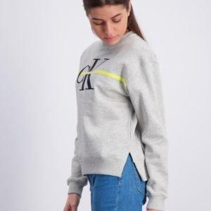 Calvin Klein Monogram Stripe Sweatshirt Neule Harmaa