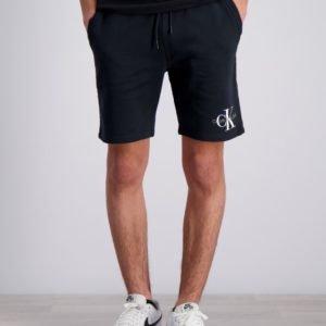 Calvin Klein Monogram Sweatshort Shortsit Musta