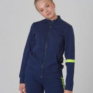 Calvin Klein Neon Tape Zip Terry Jacket Neule Sininen