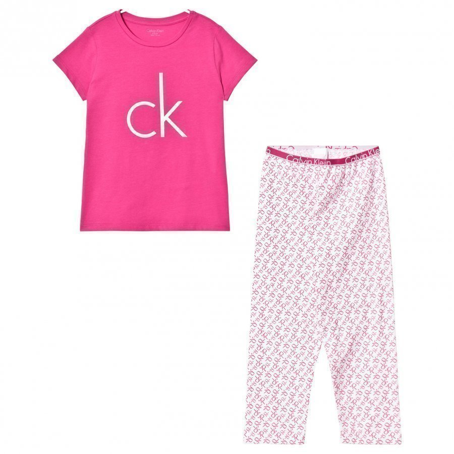 Calvin Klein Pink Branded Pyjamas Yöpuku