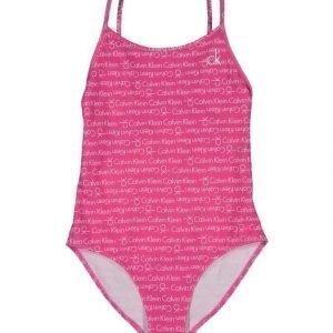 Calvin Klein Print Swimsuit Uimapuku
