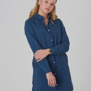 Calvin Klein Shirt Dress Blue Stripe Rigid Mekko Sininen