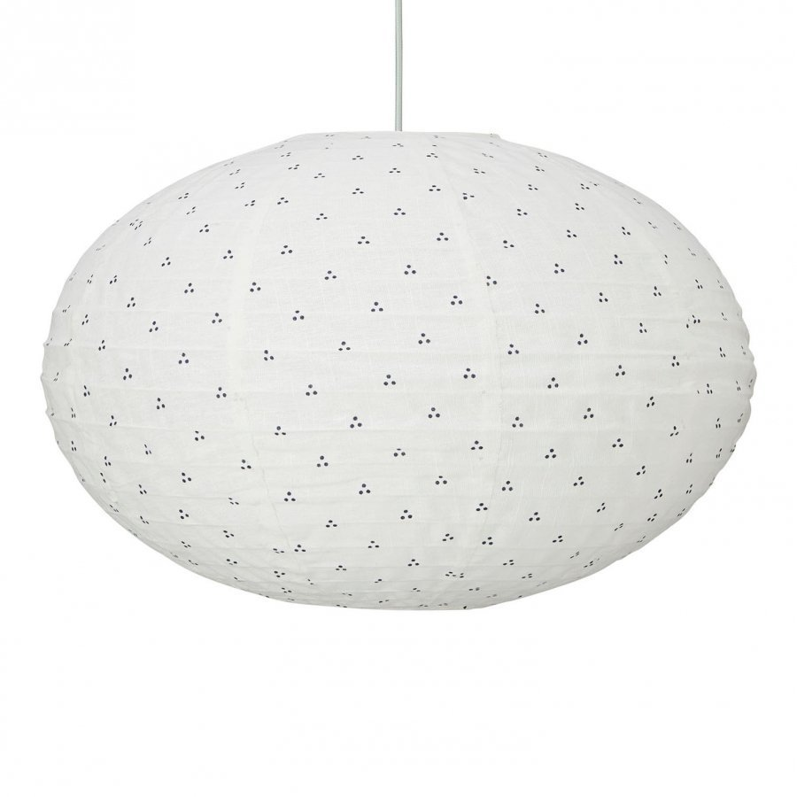 Cam Cam Ellipse Lamp Dots Navy Mint Kattovalaisin