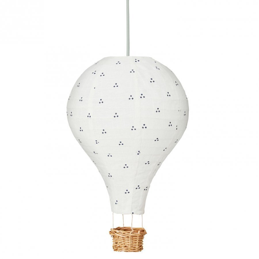 Cam Cam Hot Air Ballon Lamp Dots Navy Mint Kattovalaisin
