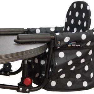 Carena Utö Pöytään kiinnitettävä syöttötuoli Black Dot