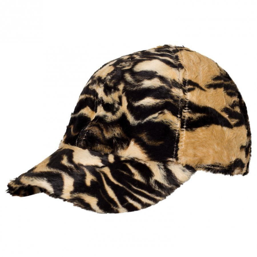 Caroline Bosmans Furry Bow Cap Tiger Lippis